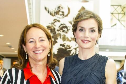 Ségolène Royal et Letizia d'Espagne complices et en mission à Paris