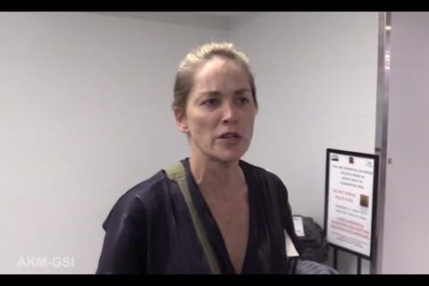 Sharon Stone : Les traits tirés et en larmes, la star sous le choc...