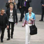 Johnny Hallyday et Laeticia applaudissent Céline Dion, pour sa dernière