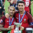 Joie de l'équipe portugaise et de Cristiano Ronaldo vainqueur de l'EURO 2016
