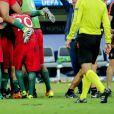 Cristiano Ronaldo et ses coéquipiers célèbrent la victoire lors du match de la finale de l'Euro 2016 Portugal-France au Stade de France à Saint-Denis, France, le 10 juillet 2016. © Cyril Moreau/Bestimage