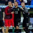 Cristiano Ronaldo et ses coéquipiers lors du match de la finale de l'Euro 2016 Portugal-France au Stade de France à Saint-Denis, France, le 10 juillet 2016. © Cyril Moreau/Bestimage
