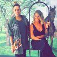 Emilie Fiorelli et Eddy posent sur Snapchat