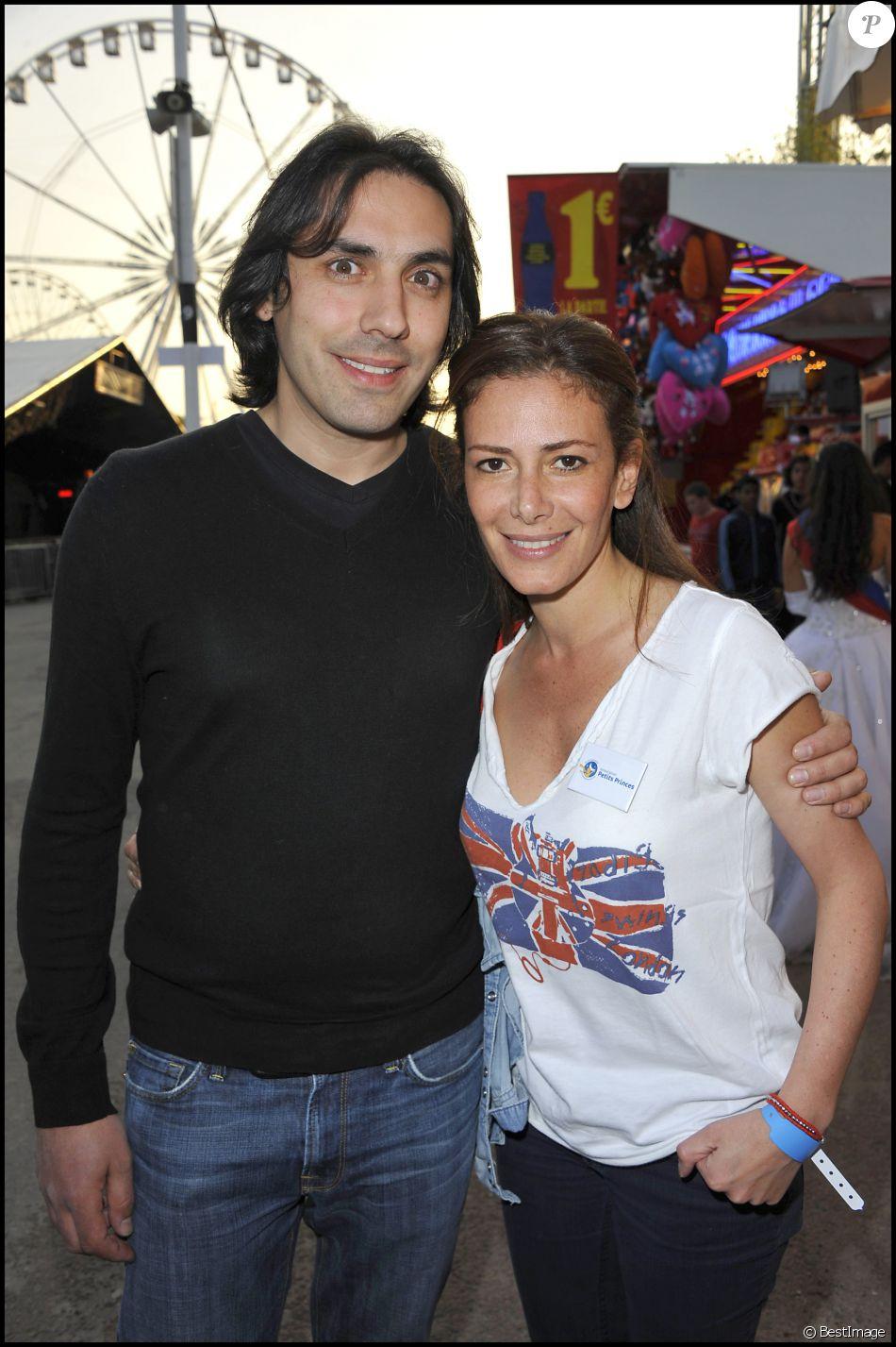 Elsa Fayer et son compagnon Zach Hanoun - Inauguration de la Foire du Trône en 2011.