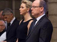 Albert et Charlene de Monaco : Recueillis pour Nice, dans la douleur...