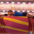 Caroline Ithurbide sur les cylindres de Fort Boyard, une épreuve coupée au montage mais bien dans la bande-annonce de l'épisode diffusé samedi 16 juillet 2016 Sur France 2. Mystère !
