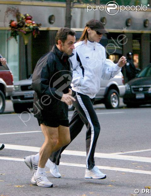 Carla et Nicolas, jogging amoureux à Central Park !