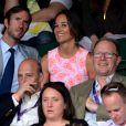 Pippa Middleton et James Matthews à Wimbledon le 6 juillet 2016. Le 17 du même mois, le couple s'est fiancé à Lake District.