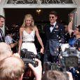 Mario Gomez épouse la sublime Carina à Munich, le 22 juillet 216.