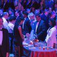 Le prince Albert II de Monaco et sa femme la princesse Charlène de Monaco ainsi que l'assistance ont observé une minute de silence en mémoire des victimes de l'attentat du 14 juillet à Nice durant le 68ème Bal de la Croix-Rouge monégasque dans la Salle des Etoiles du Sporting de Monaco le 23 juillet 2016. © Palais Princier / Pierre Villard / Monte Carlo Société des Bains de Mer via Bestimage