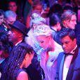 Le prince Albert II de Monaco et sa femme la princesse Charlène de Monaco ainsi que l'assistance ont observé une minute de silence en mémoire des victimes de l'attentat du 14 juillet à Nice durant le 68ème Gala de la Croix-Rouge monégasque dans la Salle des Etoiles du Sporting de Monaco, le 23 juillet 2016. © Pool Restreint Monaco/Bestimage