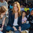 Carla Bruni-Sarkozy - Présentation du programme pédagogiques de la Fondation M. Fontenoy à l'école Gustave Rouanet à Paris, le 22 juin 2016. © Veeren/Bestimage