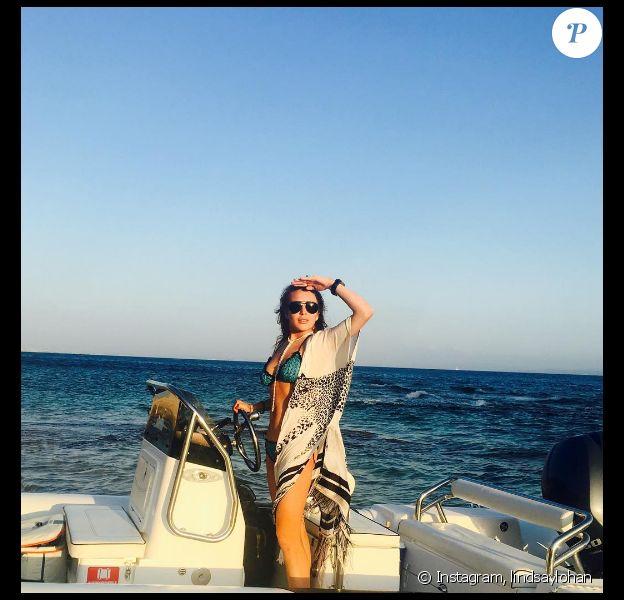 Lindsay Lohan en vacances en Sardaigne. Photo publiée sur Instagram, le 26 juillet 2016