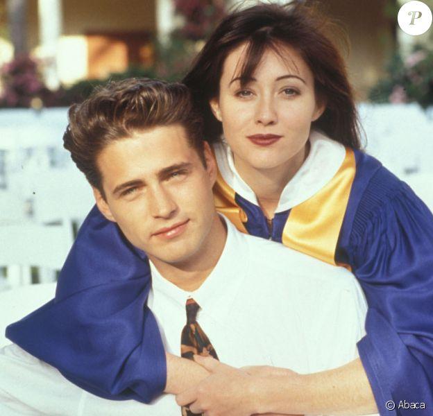 """Beverly Hills 90210"" (1995) Shannen Doherty et Jason Priestley"