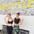 Lea Michele est adepte des cours de spinnning chez SoulCycle. Photo publiée sur Instagram en juillet 2016