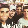 Luca Zidane, son frère Enzo et des amis à New York en juillet 2016