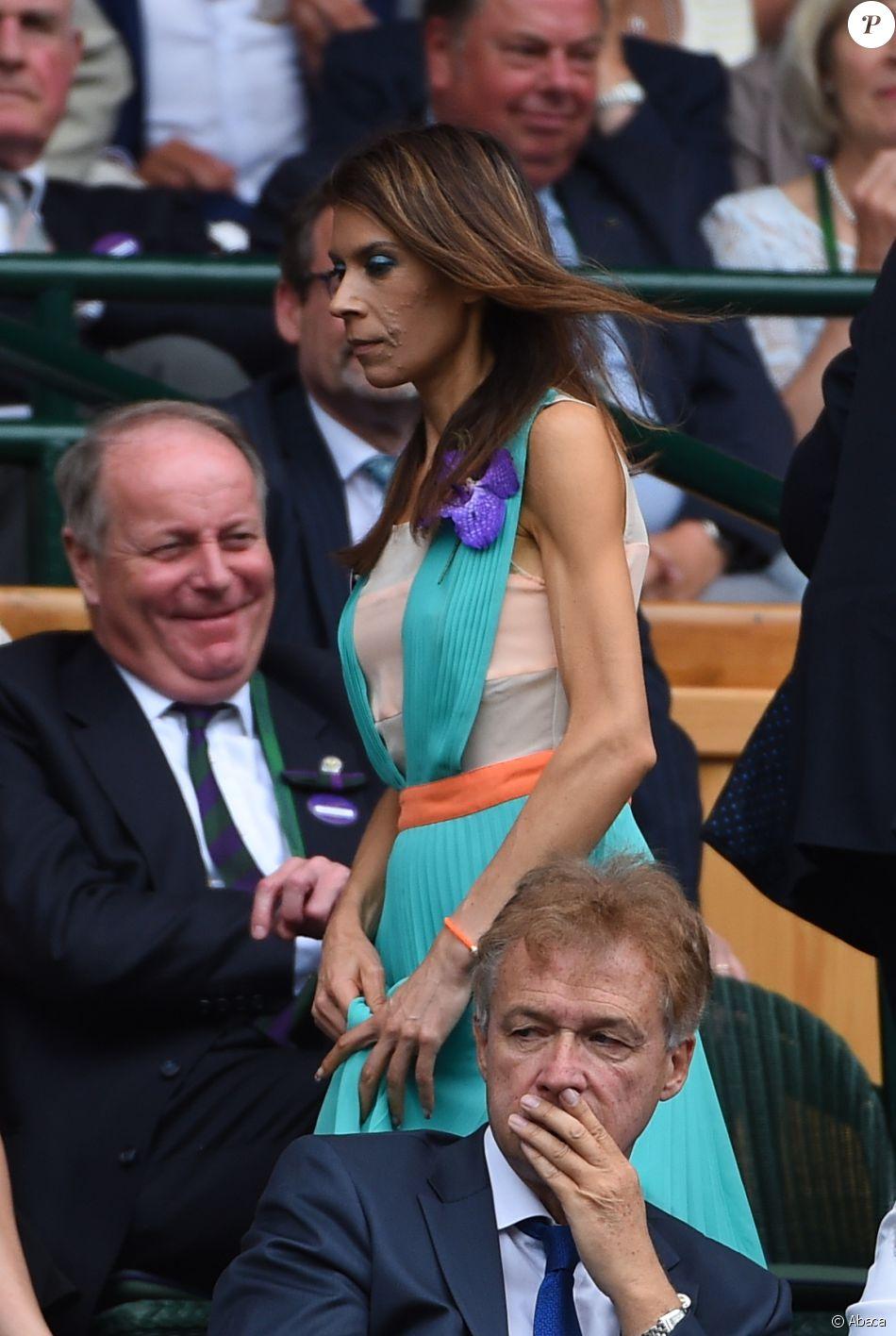 Marion Bartoli au tournoi de Wimbledon à Londres, le 9 juillet 2016