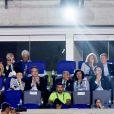 Le roi Willem-Alexander des Pays-Bas dans les tribunes du stade Maracanã le 5 août 2016 lors de la cérémonie d'ouverture des Jeux olympiques de Rio de Janeiro.