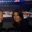 Le prince héritier Frederik et la princesse héritière Mary de Danemark dans les tribunes du stade Maracanã le 5 août 2016 lors de la cérémonie d'ouverture des Jeux olympiques de Rio de Janeiro. © Cour royale de Suède / Instagram