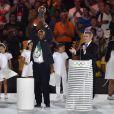 Thomas Bach au stade Maracanã le 5 août 2016 lors de la cérémonie d'ouverture des Jeux olympiques de Rio de Janeiro.