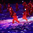 Cérémonie d'ouverture des Jeux Olympiques (JO) de Rio 2016 à Rio de Janeiro, Brésil le 5 aout 2016.   Performers take part in the opening ceremony of the Rio 2016 Summer Olympic Games at the Maracana Stadium.05/08/2016 - Rio de Janeiro