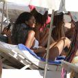 Chanel Iman en vacances à Ibiza, le 7 août 2016.