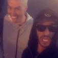 Samir Nasri avec son fréro Ahmed Yahiaoui lors d'un séjour aux Etats-Unis, entre Las Vegas et Los Angeles, été 2016, image issue d'une vidéo partagée par Ahmed Yahiaoui sur Instagram en août 2016.