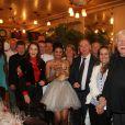 """Exclusif - Anne de Castro, Régis Laspalès, Tiffany et son mari Philippe Chevallier lors du dîner de mariage de Philippe Chevallier et Tiffany au restaurant Joséphine """"Chez Dumonet"""" à Paris, le 26 juillet 2016"""