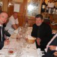 """Exclusif - Philippe Chevallier et Régis Laspalès lors du dîner de mariage au restaurant Joséphine """"Chez Dumonet"""" à Paris, le 26 juillet 2016"""