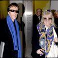 Robin Gibb et son épouse Dwina à Londres, le 29 décembre 2006.