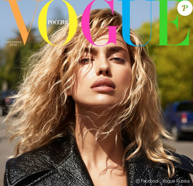 Irina Shayk en couverture du numéro de septembre 2016 du magazine Vogue Russia. Photo par Mert et Marcus.