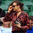 Irina Shayk à Wimbledon. Londres, le 8 juillet 2016.