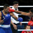 Tony Yoka remporte l'or en boxe, catégorie + 91 kg, face à Joe Joyce lors des Jeux olympiques de Rio, le 21 août 2016.