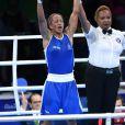 Estelle Mossely, médaillée d'or en boxe féminine (-60 kg), lors des Jeux olympiques de Rio, le 19 août 2016.