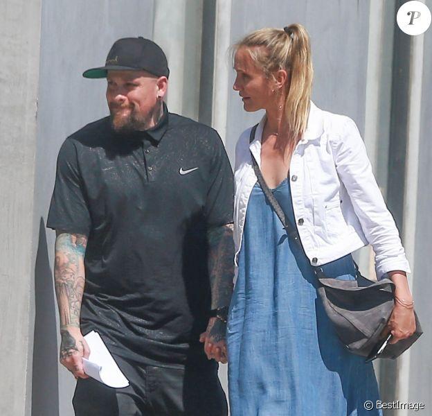 Cameron Diaz et son mari Benji Madden vont faire du shopping à Hollywood le 13 aout 2016.