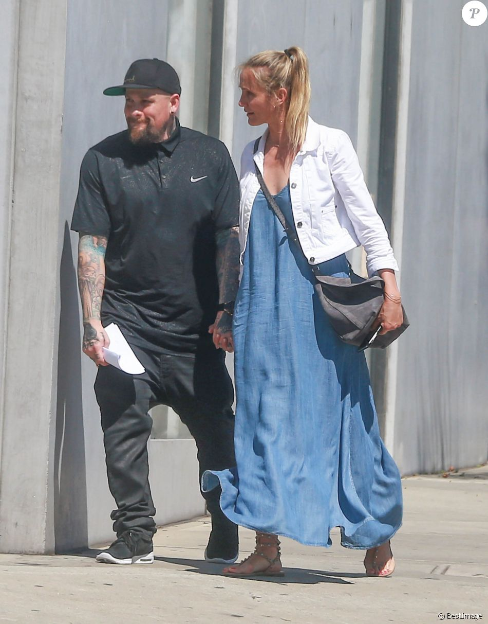 Cameron Diaz et son mari Benji Madden vont faire du shopping à Hollywood le 13 aout 2016.