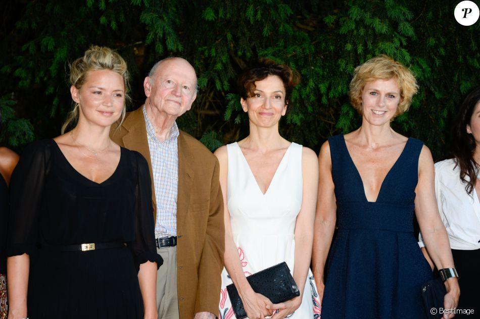 Virginie Efira, Gilles Jacob, Audrey Azoulay et Anne Richard - Photocall du jury lors de l'ouverture du 9ème Festival du Film Francophone d'Angoulême, le 23 août 2016. © Coadic Guirec/Bestimage