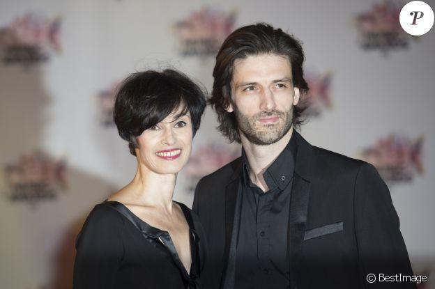 Marie-Claude Pietragalla et son compagnon Julien Derouault - Arrivées à la 17ème cérémonie des NRJ Music Awards 2015 au Palais des Festivals à Cannes, le 7 novembre 2015.