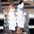Exclusif - Ivanka Trump et son mari Jared Kushner se ressourcent sur un yacht en Croatie au large de Dubrovnik le 12 août 2016.