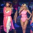 Ariana Grande et Nicki Minaj à la cérémonie des MTV Video Music Awards au Madison Square Garden à New York le 28 août 2016
