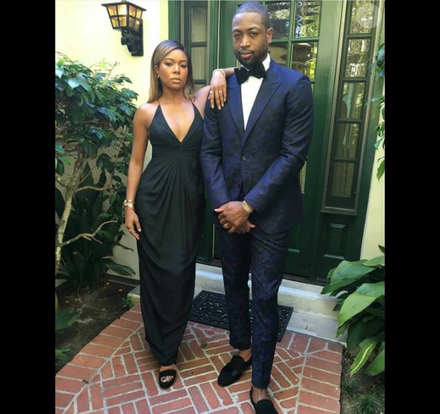 Dwyane Wade et Gabrielle Union de mariage, photo Instagram août 2016.
