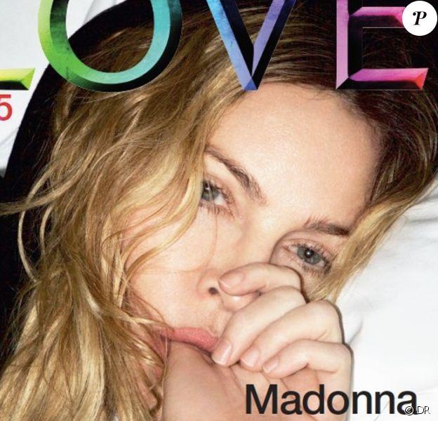 """Madonna, photographié par Mert Alas, pour un numéro spécial du magazine anglais """"Love"""", attendu le 19 septembre 2016 en kiosques."""