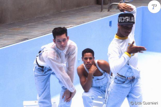 """Kevin Stea, Gabriel Trupin et Oliver Crumes - trois danseurs qui ont accompagné Madonna lors du """"Blonde Ambition Tour"""" en 1990. Ils sont les héros du documentaire """"Strike a Pose"""", présenté lors de la Berlinale 2016."""
