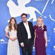 Emilia Jones, Martin Koolhoven, Dakota Fanning lors du photocall du film ''The Brimstone'' lors du 73ème Festival du Film de Venise, la Mostra, le 3 septembre 2016.