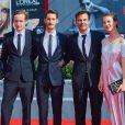 Anton von Lucke, Pierre Niney (en Dior et Montblanc), François Ozon, Paula Beer, Johann von BÜLOW lors de la première du film ''Frantz'' pendant le 73ème Festival du Film de Venise, la Mostra, le 3 septembre 2016.