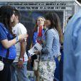 Exclusif - Sidonie Biémont, compagne d'Adil Rami, enceinte au Stade de France le 10 juillet 2016 pour la finale de l'Euro entre la France et le Portugal © Stéphane Allaman/Bestimage