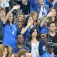 Sidonie Biémont (enceinte) au match d'ouverture de l'Euro 2016, France-Roumanie au Stade de France, le 10 juin 2016. © Cyril Moreau/Bestimage