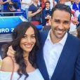 Sidonie Biémont, compagne d'Adil Rami, a accouché le 7 septembre 2016 de jumeaux, Zayn et Madi. Photo Instagram lors de l'Euro 2016.