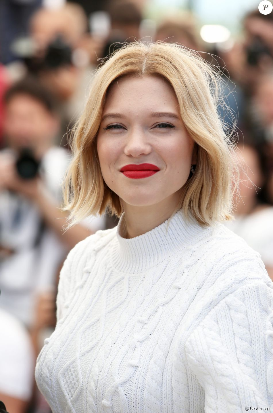 "Léa Seydoux - Photocall du film ""Juste la fin du monde"" lors du 69e Festival International du Film de Cannes. Le 19 mai 2016 © Dominique Jacovides / Bestimage"
