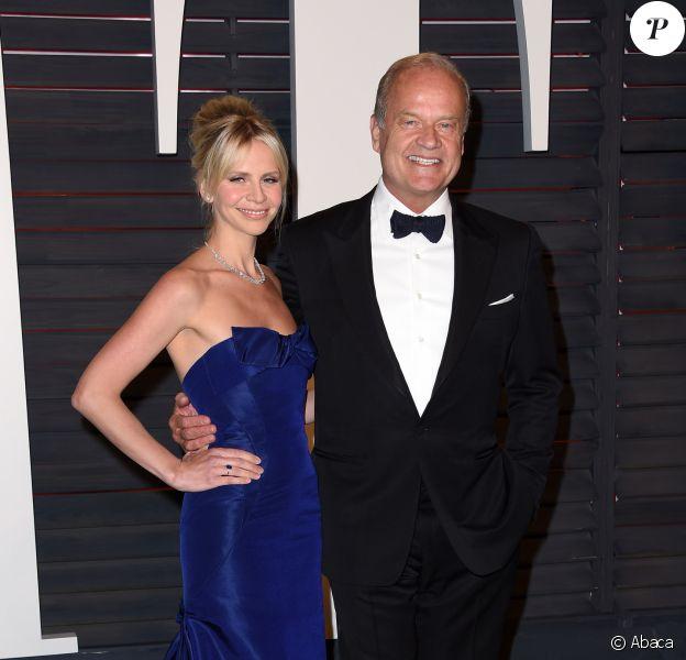 Kelsey Grammer et Kayte Walsh - Vanity Fair Oscar Party 2016, le 28 février à Beverly Hills, Los Angeles